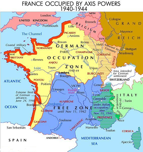 Map Vichy France - Limoges france map