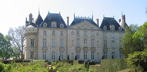classical appearance of rear of chateau du Lude