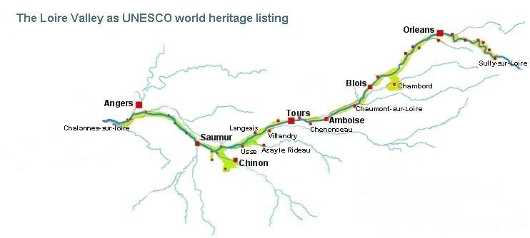 Centre region france val de loire unesco map of loire valley gumiabroncs Image collections