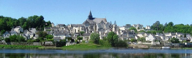 Candes-Saint-Martin from across the Loire river