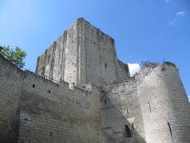 view of the dojon ramparts at Loches