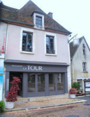 'La Tour' restaurant in the village of Sancerre in the Loire Valley