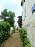narrow lane in Candes-Saint-Martin