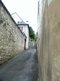 a alleyway in Candes-Saint-Martin