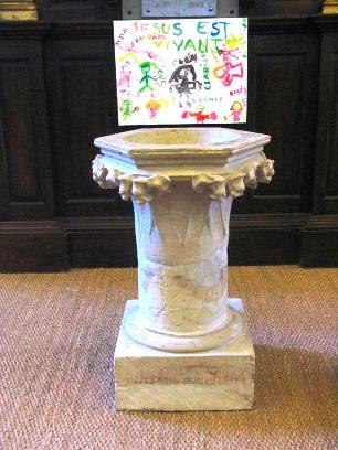 St Anthony's church Loches font
