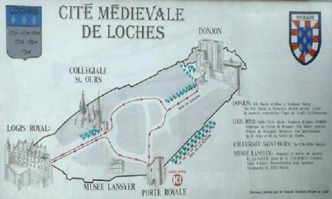 plan of citadel ealk in Loches
