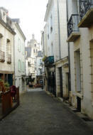 another narrow cobbled street in Loches