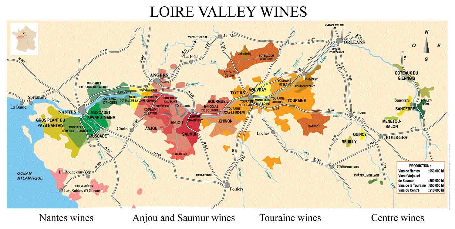 . loire valley wine map