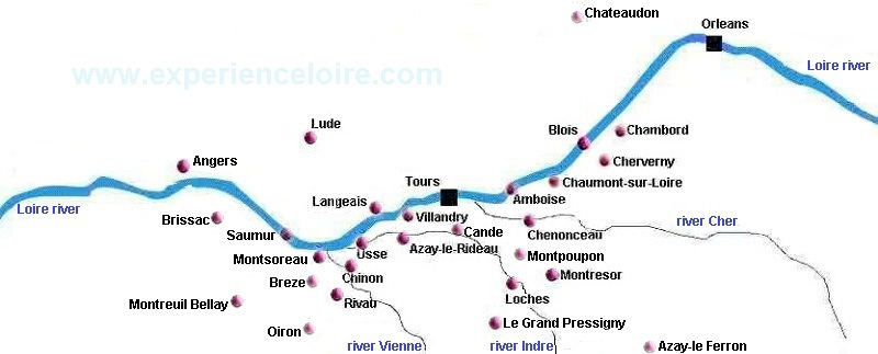 Loire Valley Chateaux Map Interactive Map