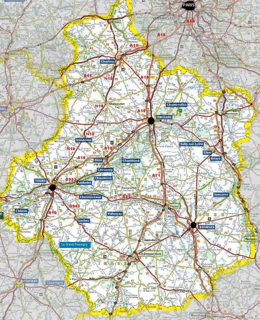 Loire Valley Map Plus Information