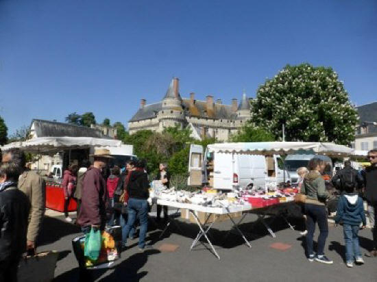 Langeais Sunday market in the Loire Valley