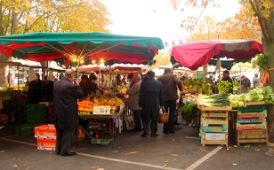 market in the city of Tours in the Loire Valley