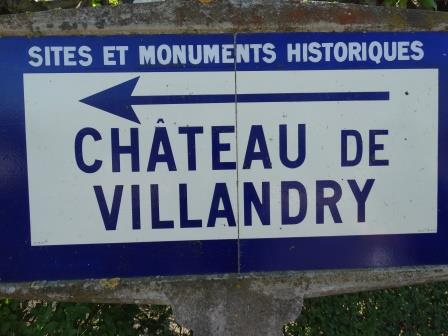 Sign to chateau Villandry