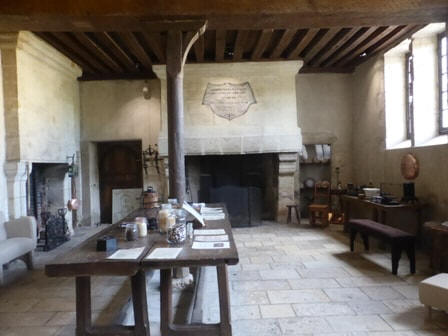 kitchens of  Chateau Beauregard in the Loire Valley,France