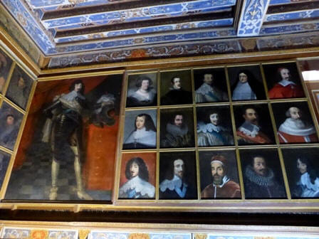 more examples in Portrait gallery in Chateau Beauregard in the Loire Valley in France