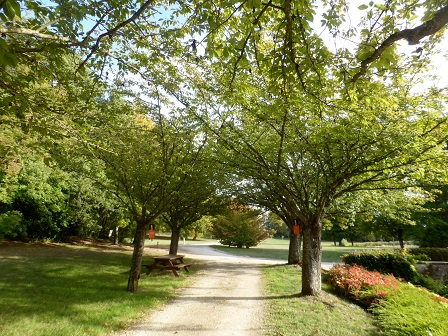 Autumn in the gardens at Chateau Beauregard in the Loire Valley