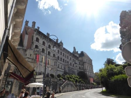 View of the chateau in Blois from the street below