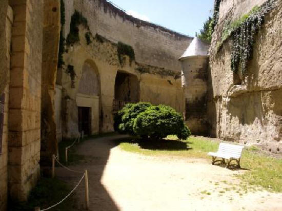 the underground part of Chateau de Breze in the Loire Valley.France