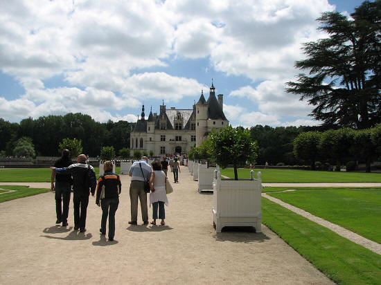first sight of Chateau de Chenonceau in the Loire Valley
