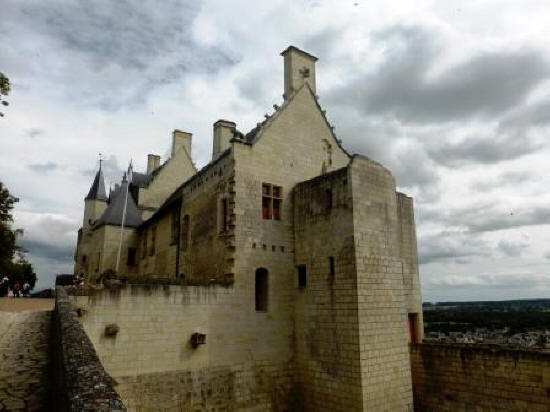 Royal lodgings at fortress Chinon in the Loire Valley