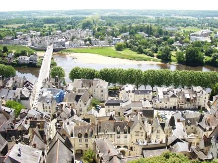 The town of Chinon from the chateau