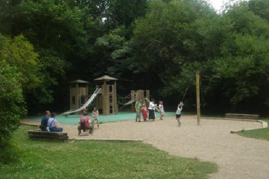 children playing at playground at Clos Luce