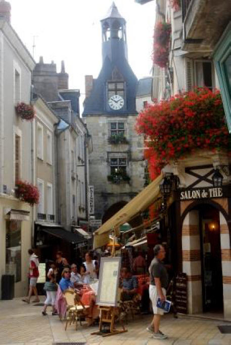 The clock towerat Amboise in the Loire Valley