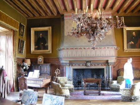 Interior of the chateau at Montresor in the Loire Valley