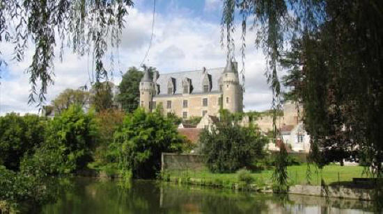 Chateau at Montresor with river in foreground