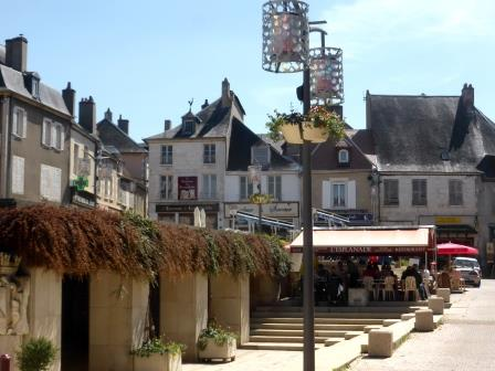 The village square at Sancerre in the Loire Valley