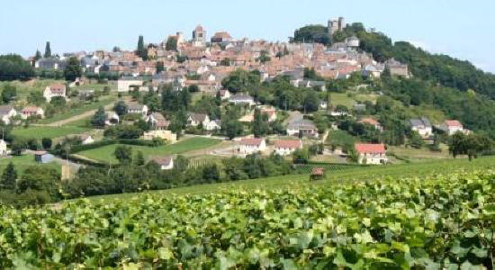 The hilltop village of Sancerre in the Loire Valley