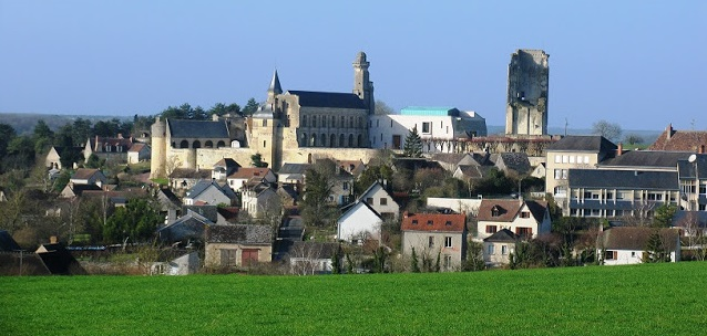 A view of the village of Le Grand-Pressigny in France