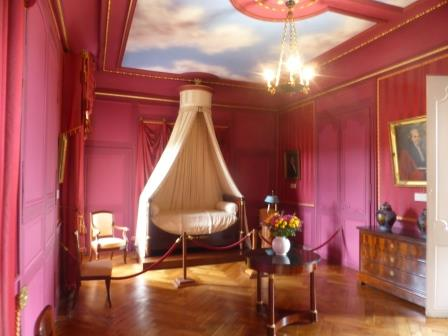 Prince Jeromes bedroom in Chateau Villandry in the Loire Valley in France