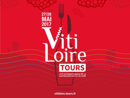 Poster advertising Vitaloire wine fare in Tours in the Loire Valley