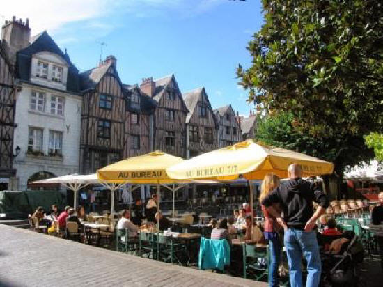 Place Plumereau in Tours France