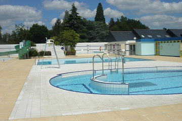 swimming pools at  Descartes in Indre et Loire, France