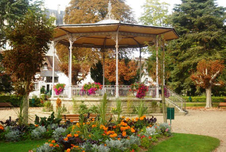 Bandstand in public park Loches